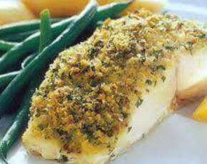 Crusted Sea Bass